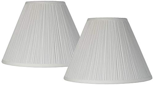 Antique White Pleated Lamp Shade Set Of 2 Traditional 65x15x11 Spider Brentwood 0
