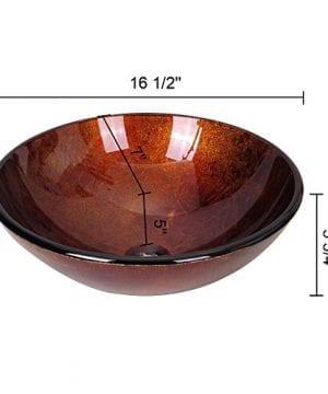 Aquaterior Modern Bathroom Round Artistic Tempered Glass Vessel Vanity Sink Bowl Basin Spa 0 2 300x360