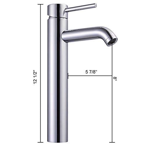 Aquaterior Rectangle Porcelain Ceramic Bathroom Vessel Sink WOverflow12 12 Chrome Faucet LavatoryDrain Set 0 4