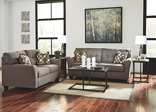 Ashley Furniture Signature Design Airdon Contemporary 3 Piece Table Set Includes Coffee Table 2 End Tables Bronze Finish 0 1