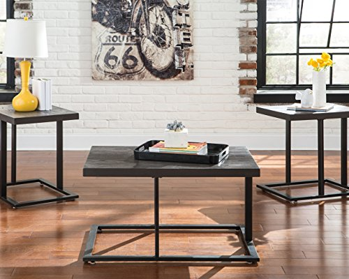 Ashley Furniture Signature Design Airdon Contemporary 3 Piece Table Set Includes Coffee Table 2 End Tables Bronze Finish 0 2