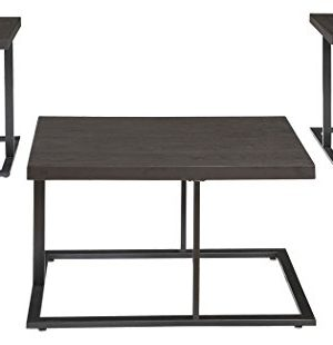 Ashley Furniture Signature Design Airdon Contemporary 3 Piece Table Set Includes Coffee Table 2 End Tables Bronze Finish 0 300x310