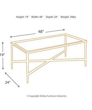 Ashley Furniture Signature Design Augeron Contemporary 3 Piece Table Set Includes Cocktail Table 2 End Tables Black 0 3 300x360