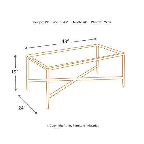 Ashley Furniture Signature Design Augeron Contemporary 3 Piece Table Set Includes Cocktail Table 2 End Tables Black 0 3