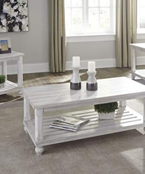 Ashley Furniture Signature Design Cloudhurst Contemporary 3 Piece Table Set Includes Cocktail Table Two End Tables White 0 0 300x360