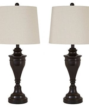 Ashley Furniture Signature Design Darlita Table Lamps Set Of 2 Contemporary Bronze Finish 0 300x360