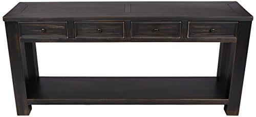 Ashley Furniture Signature Design Gavelston Sofa Table Rectangular Black 0 0