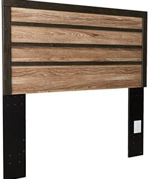 Ashley Furniture Signature Design Harlinton Panel Headboard QueenFull Size Component Piece Contemporary Headboard Only Warm GrayCharcoal 0 300x360