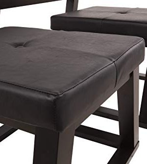 Ashley Furniture Signature Design Kelton Coffee Table With 2 Stools Cocktail Height 3 Piece Set Espresso Brown With Glass Top 0 1 300x333
