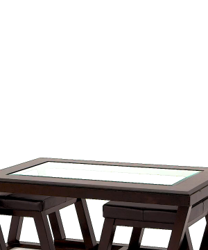 Ashley Furniture Signature Design Kelton Coffee Table With 2 Stools Cocktail Height 3 Piece Set Espresso Brown With Glass Top 0 300x360