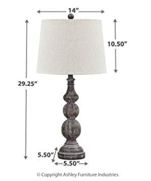 Ashley Furniture Signature Design Mair Poly Table Lamps Set Of 2 Timeworn Finish Antique Black 0 1 300x360