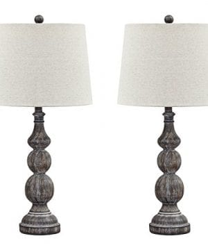 Ashley Furniture Signature Design Mair Poly Table Lamps Set Of 2 Timeworn Finish Antique Black 0 300x360