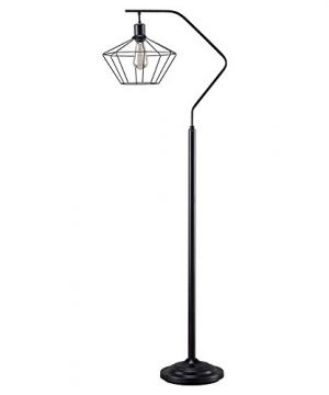 Ashley Furniture Signature Design Makeika Floor Lamp With Metal Shade Contemporary Style Black Finish 0 300x360