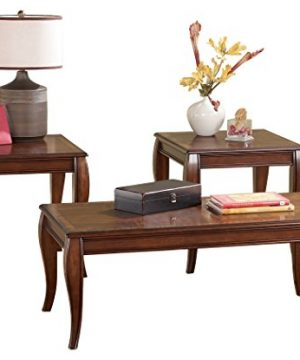 Ashley Furniture Signature Design Mattie Occasional Table Set Of 3 Reddish Brown 0 300x360