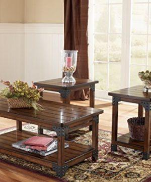 Ashley Furniture Signature Design Murphy 3 Piece Occasional Table Set Medium Brown 0 2 300x360