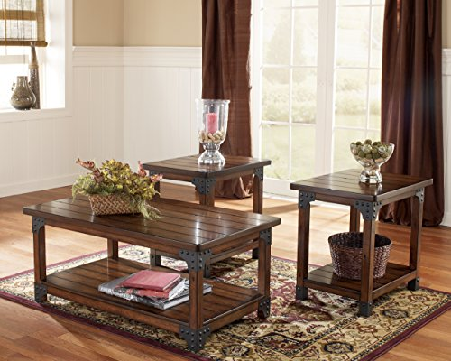 Ashley Furniture Signature Design Murphy 3 Piece Occasional Table Set Medium Brown 0 2