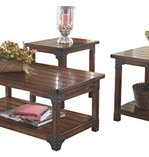 Ashley Furniture Signature Design Murphy 3 Piece Occasional Table Set Medium Brown 0 300x317