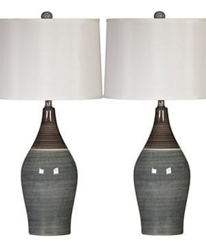 Ashley Furniture Signature Design Niobe Ceramic Table Lamp Set Of 2 MulticoloredGray 0 300x360