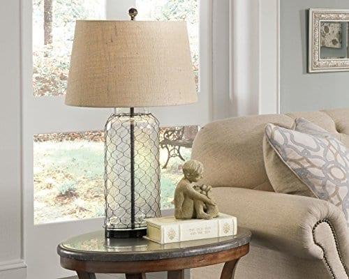 Ashley Furniture Signature Design Sharmayne Farmhouse Table Lamp L430114 Clear 0 3