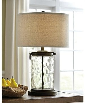 Ashley Furniture Signature Design Tailynn Farmhouse Glass Table Lamp Clear And Bronze Finish 0 0 300x360