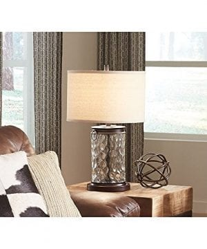 Ashley Furniture Signature Design Tailynn Farmhouse Glass Table Lamp Clear And Bronze Finish 0 1 300x360