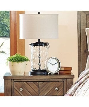 Ashley Furniture Signature Design Tailynn Farmhouse Glass Table Lamp Clear And Bronze Finish 0 2 300x360