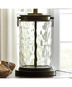 Ashley Furniture Signature Design Tailynn Farmhouse Glass Table Lamp Clear And Bronze Finish 0 3 300x360