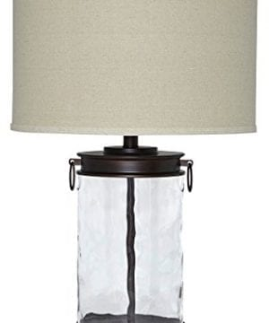 Ashley Furniture Signature Design Tailynn Farmhouse Glass Table Lamp Clear And Bronze Finish 0 300x360