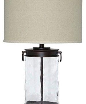 Ashley Furniture Signature Design Tailynn Farmhouse Glass Table Lamp Clear And Bronze Finish 0 300x360