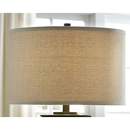 Ashley Furniture Signature Design Tailynn Farmhouse Glass Table Lamp Clear And Bronze Finish 0 4