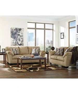 Ashley Furniture Signature Design Theo Faux Marble Top Occasional Table Set Contains Cocktail Table 2 End Tables Contemporary Warm Brown 0 4 300x360