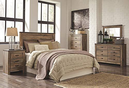 Ashley Furniture Signature Design Trinell Queen Panel Headboard Component Piece Brown 0 2