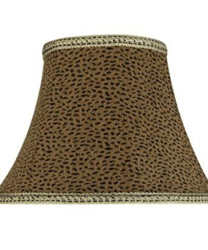 Aspen Creative 30212 Transitional Bell Shape Spider Construction Lamp Shade In Leopard 13 Wide 7 X 13 X 9 12 0 300x360