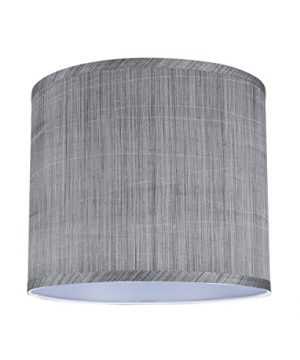 Aspen Creative 31015 Transitional Hardback Drum Cylinder Shape Spider Construction Lamp Shade In Grey Black 12 Wide 12 X 12 X 10 0 0 300x360