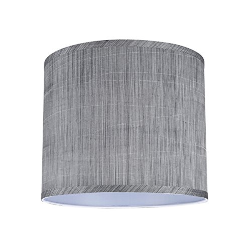 Aspen Creative 31015 Transitional Hardback Drum Cylinder Shape Spider Construction Lamp Shade In Grey Black 12 Wide 12 X 12 X 10 0 0