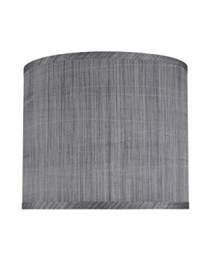 Aspen Creative 31015 Transitional Hardback Drum Cylinder Shape Spider Construction Lamp Shade In Grey Black 12 Wide 12 X 12 X 10 0 300x360