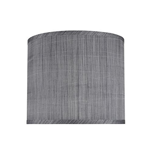 Aspen Creative 31015 Transitional Hardback Drum Cylinder Shape Spider Construction Lamp Shade In Grey Black 12 Wide 12 X 12 X 10 0
