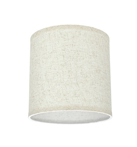 Aspen Creative 31051 Transitional Hardback Drum Cylinder Shape Spider Construction Lamp Shade In Flaxen 8 Wide 8 X 8 X 8 0 0