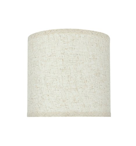 Aspen Creative 31051 Transitional Hardback Drum Cylinder Shape Spider Construction Lamp Shade In Flaxen 8 Wide 8 X 8 X 8 0