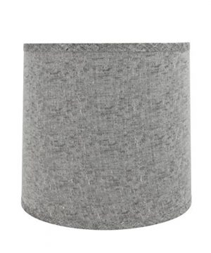 Aspen Creative 32502 Transitional Drum Cylinder Shaped Spider Construction Lamp Shade In Grey 13 Wide 12 X 13 X 12 0 300x360