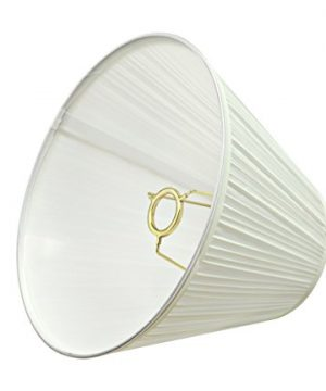Aspen Creative 59101 Transitional Pleated Empire Shape UNO Construction Lamp Shade In Off White 10 Wide 5 X 10 X 8 0 1 300x360