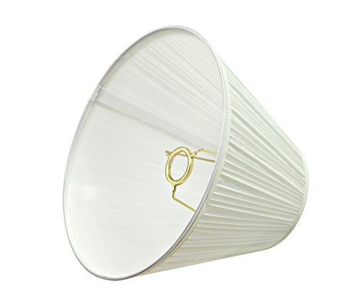 Aspen Creative 59101 Transitional Pleated Empire Shape UNO Construction Lamp Shade In Off White 10 Wide 5 X 10 X 8 0 1