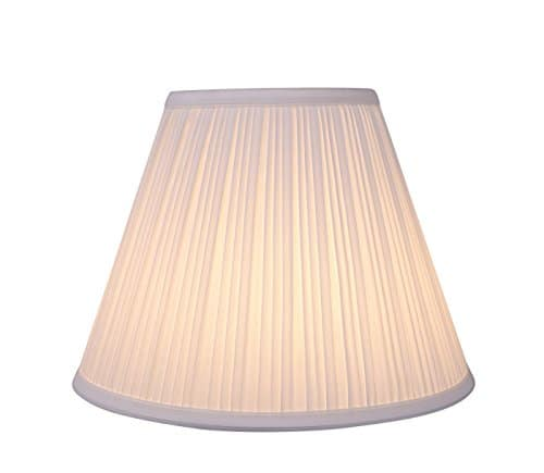 Aspen Creative 59101 Transitional Pleated Empire Shape UNO Construction Lamp Shade In Off White 10 Wide 5 X 10 X 8 0 2