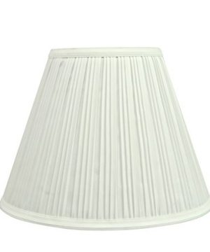 Aspen Creative 59101 Transitional Pleated Empire Shape UNO Construction Lamp Shade In Off White 10 Wide 5 X 10 X 8 0 300x360