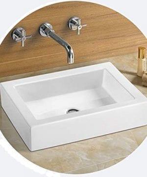 Bathroom Rectangular Ceramic Porcelain Vessel Vanity Sink 7241 Free Pop Up Drain With No Overflow 0 0 300x360