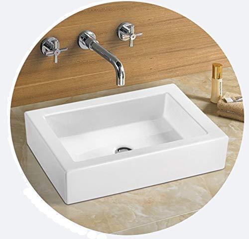 Bathroom Rectangular Ceramic Porcelain Vessel Vanity Sink 7241 Free Pop Up Drain With No Overflow 0 0
