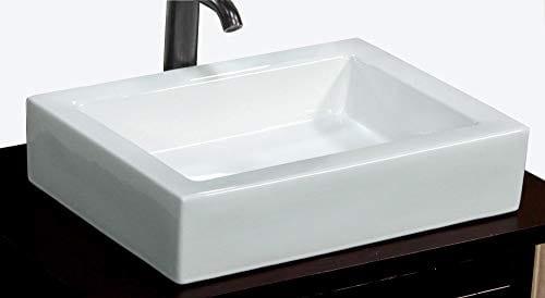Bathroom Rectangular Ceramic Porcelain Vessel Vanity Sink 7241 Free Pop Up Drain With No Overflow 0
