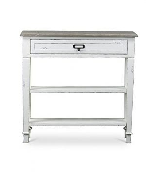 Baxton Studio Dauphine Traditional French 1 Drawer Accent Console Table White 0 0 300x360