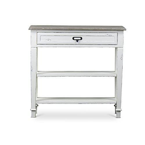 Baxton Studio Dauphine Traditional French 1 Drawer Accent Console Table White 0 0