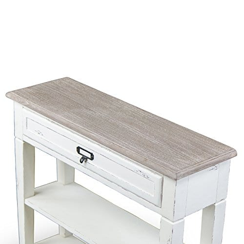Baxton Studio Dauphine Traditional French 1 Drawer Accent Console Table White 0 1